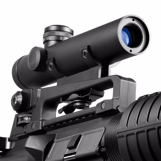 4x20mm Electro Sight Carry Handle Rifle Scope w/ BDC Turret By Barska