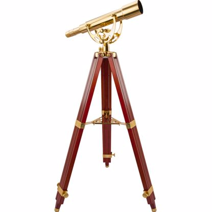 Picture of 15-45x50mm Anchormaster Classic Brass Spyscope w/ Mahogany Tripod