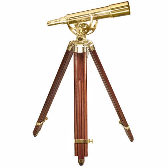 20-60x60mm Anchormaster Classic Brass Spyscope w/ Mahogany Tripod by Barska