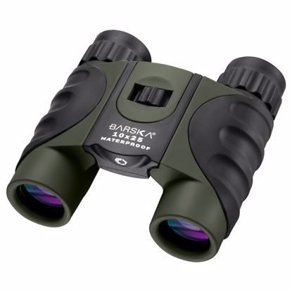 Picture of 10x25mm Green Waterproof Compact Binoculars by Barska