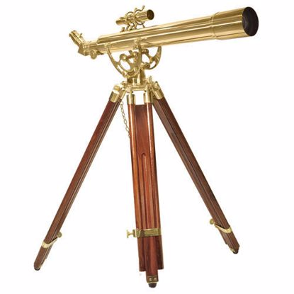 70060 28 Power Anchormaster Classic Brass Telescope w/ Mahogany Tripod By Barska