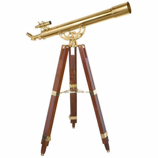 Picture of 90080 36 Power Anchormaster Classic Brass Telescope w/ Mahogany Tripod By Barska