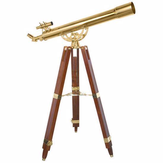 90080 36 Power Anchormaster Classic Brass Telescope w/ Mahogany Tripod By Barska