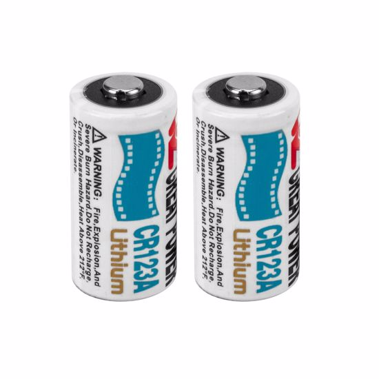 CR123A 3V Lithium Batteries (2 Pieces)