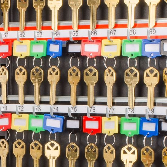 Picture of Small Assorted Key Tags 50 Pack For Key Cabinets By Barska