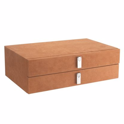 Picture of Suede-Lined Jewelry Storage Drawer Set, Tan, by Barska