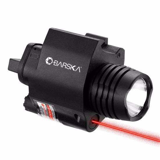 Picture of Red Laser with 200 Lumen Flashlight By Barska