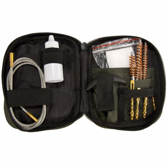 Rifle Cleaning Kit w/ Flexible Rod and Pouch