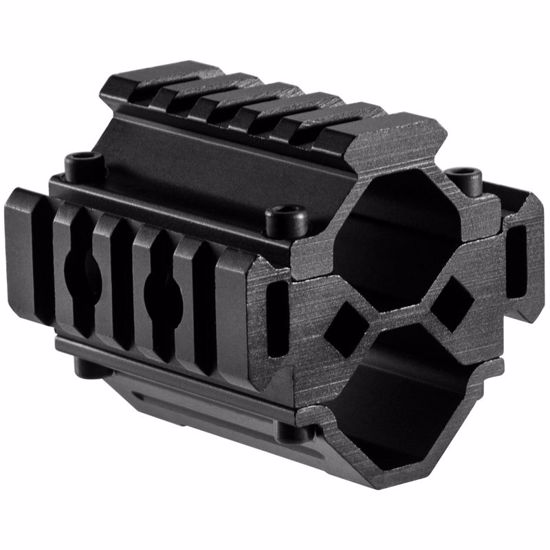 Double Shotgun Barrel Mount - Tri-Rail - 5 Sections