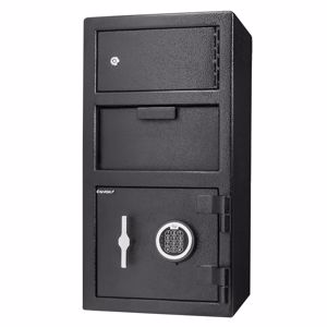 Picture of Large Locker Depository Safe with Digital Keypad, 0.72/0.78 Cubic Ft