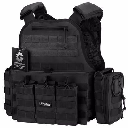 Picture of VX-500 Combo Plate Carrier Vest with Mag and Medical Pouch (Black)