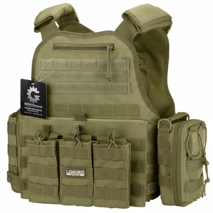 Picture of VX-500 Combo Plate Carrier Vest with Mag and Medical Pouch (OD Green)