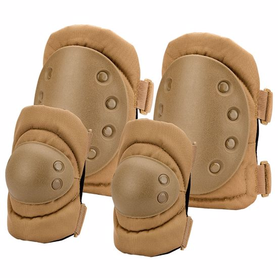 Picture of Loaded Gear CX-400 Elbow and Knee Pads (Dark Earth) By Barska