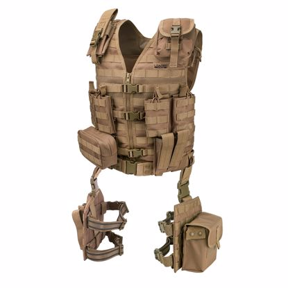 Picture of Loaded Gear VX-100 Tactical Vest and Leg Platforms (Flat Dark Earth)