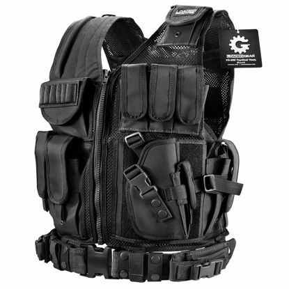 Picture of Loaded Gear Plus Size Tactical Vest VX-200 (Black) Right Hand