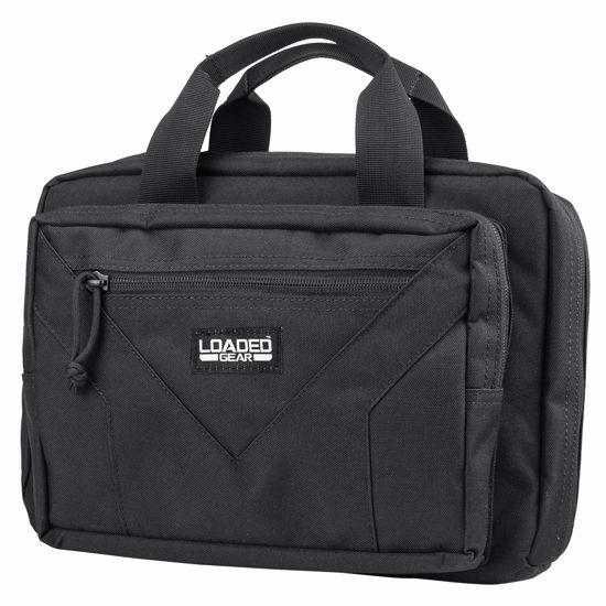 """Loaded Gear RX-800 12"""" Dual Tactical Pistol Bag (Black)"""