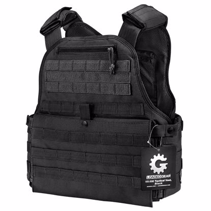 Picture of MOLLE Plate Carrier Tactical Vest VX-500 Loaded Gear