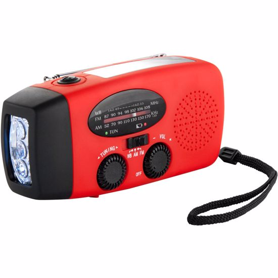 Portable Radio with Flashlight and Charger