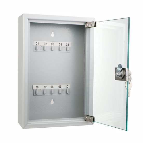 10 Position Key Cabinet with Glass Door