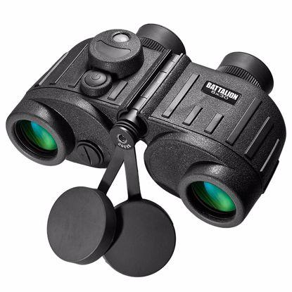 8x30mm WP Battalion Range Finding Reticle Illuminated Compass Binoculars by Barska