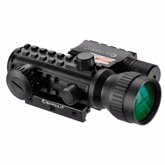 2x30mm Multi-Rail Tactical Red Dot Sight GLX Green Laser Combo by Barska