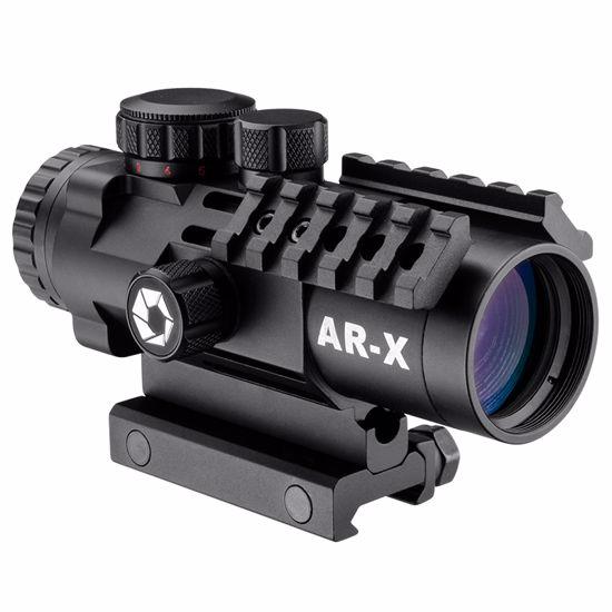 3x32mm IR AR-X Prism Rifle Scope w/ Mounting Rails by Barska
