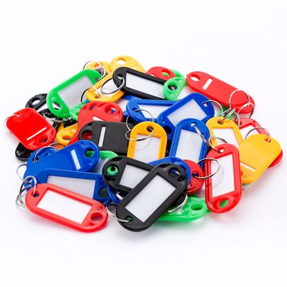 Picture of Assorted Key Tags 50 Pack For Key Cabinets