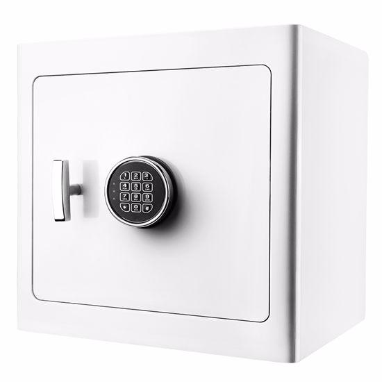 White Keypad Jewelry Safe Tan Interior