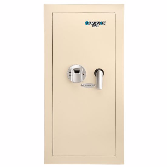 Large Biometric Wall Safe Left Opening (Beige)