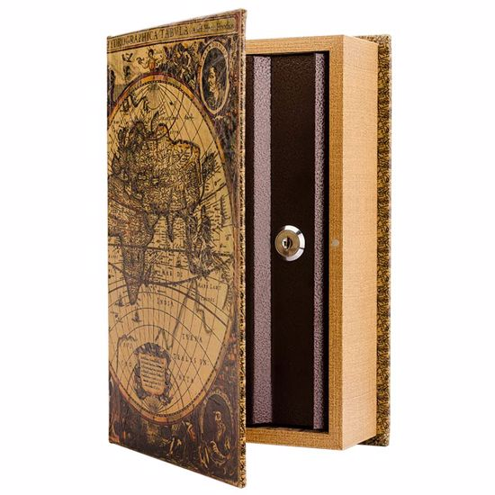 Picture of Antique Map Book Lock Box