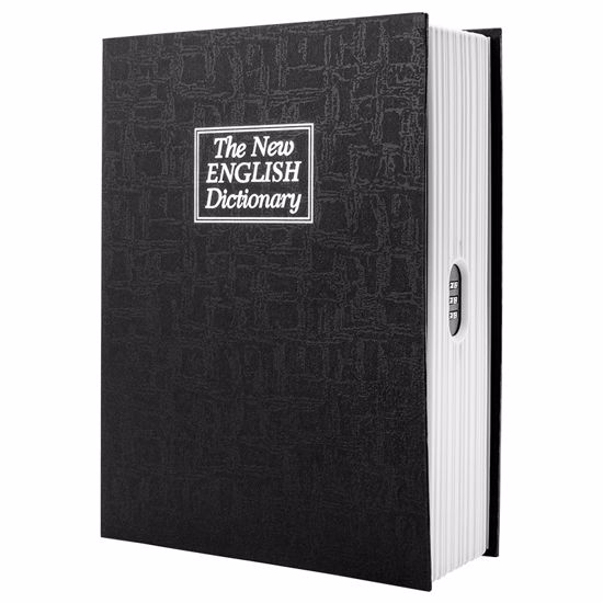 Dictionary Book Lock Box with Combination Lock