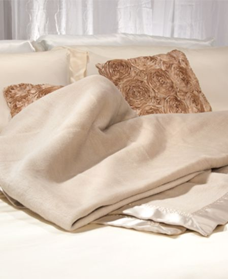 Picture of Aus Vio Silk Blanket - Taupe