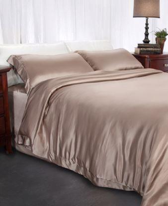 Picture of Aus Vio Silk Duvet Covers - Pebble - Queen Size