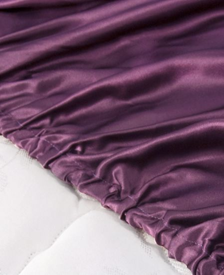 Aus Vio Silk Fitted Sheets - Iris - Queen Size