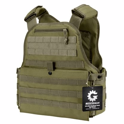 Picture of MOLLE Plate Carrier Tactical Vest VX-500 Loaded Gear OD Green By Loaded Gear