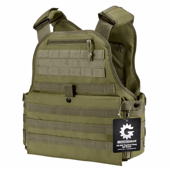 MOLLE Plate Carrier Tactical Vest VX-500 Loaded Gear OD Green By Loaded Gear