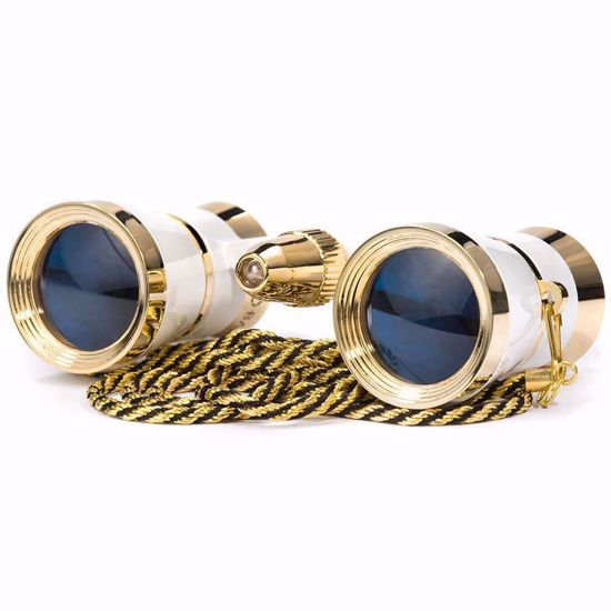 3x25mm Blueline Opera Glasses w/ Light by Barska  (White / Gold)