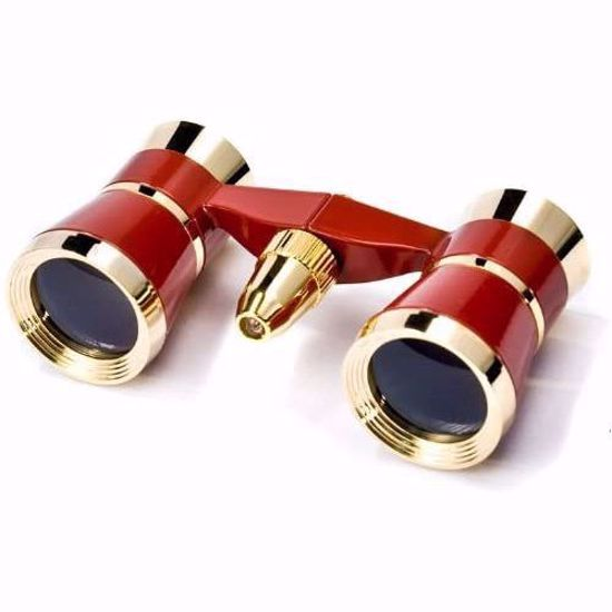 Picture of 3x25mm Blueline Opera Glasses w/ Light by Barska (Red / Gold)