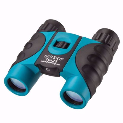 Picture of 10x25mm Blue Waterproof Compact Binoculars