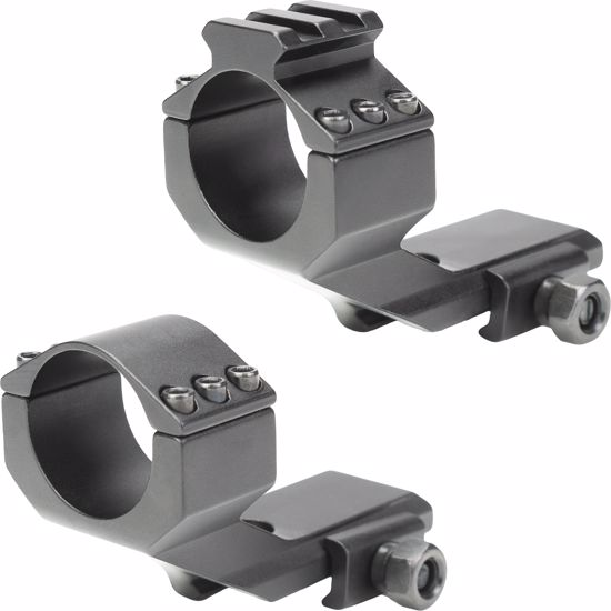 """Cantilever Mount with Integrated 30mm Scope Ring, Picatinny Rail Top & 1"""" Inserts"""