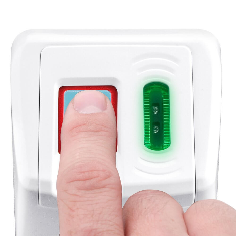 Biometric and RFID Security Door Lock (White) by Barska - Barska.com
