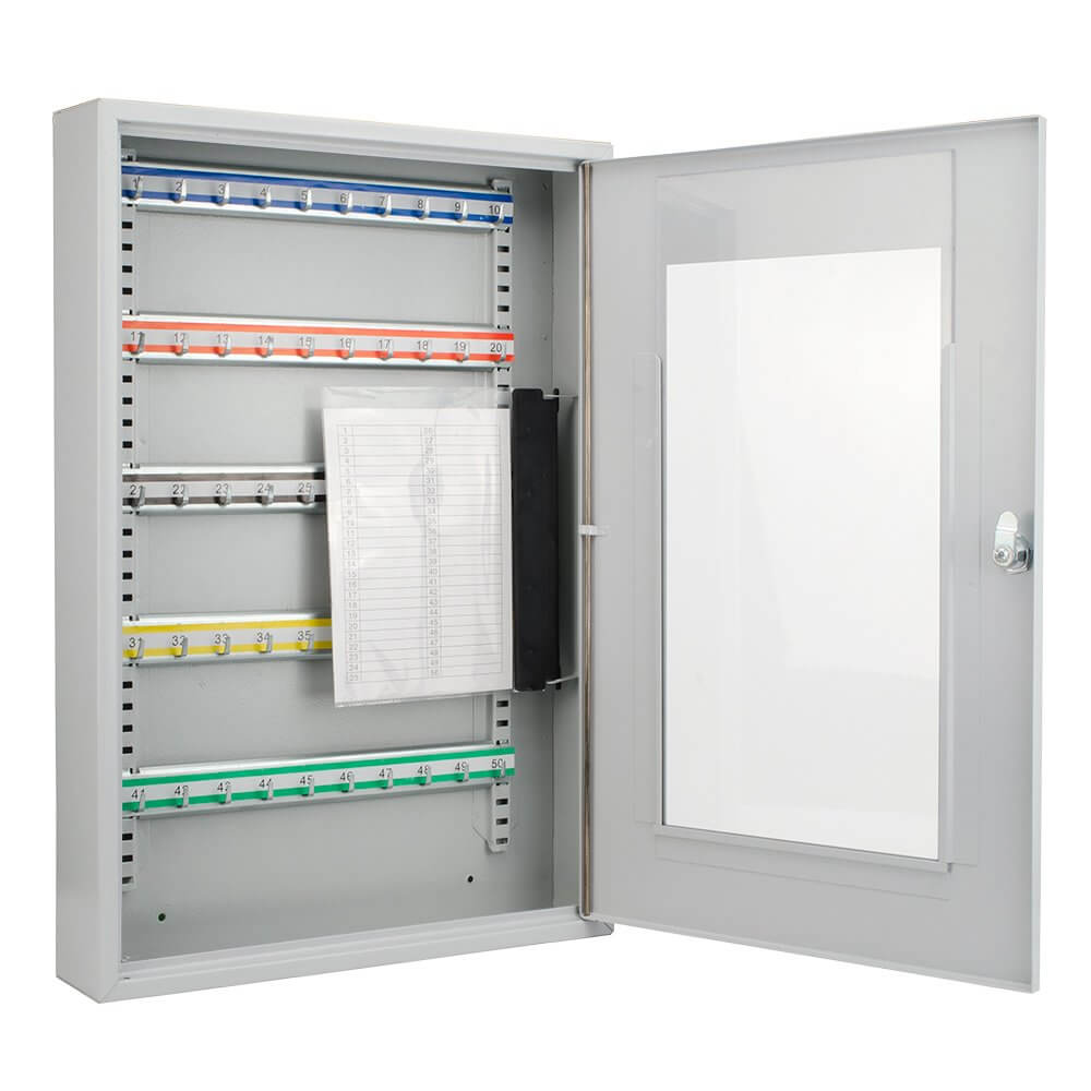 ... 50 Position Portable Key Cabinet With Glass Door By Barska ...