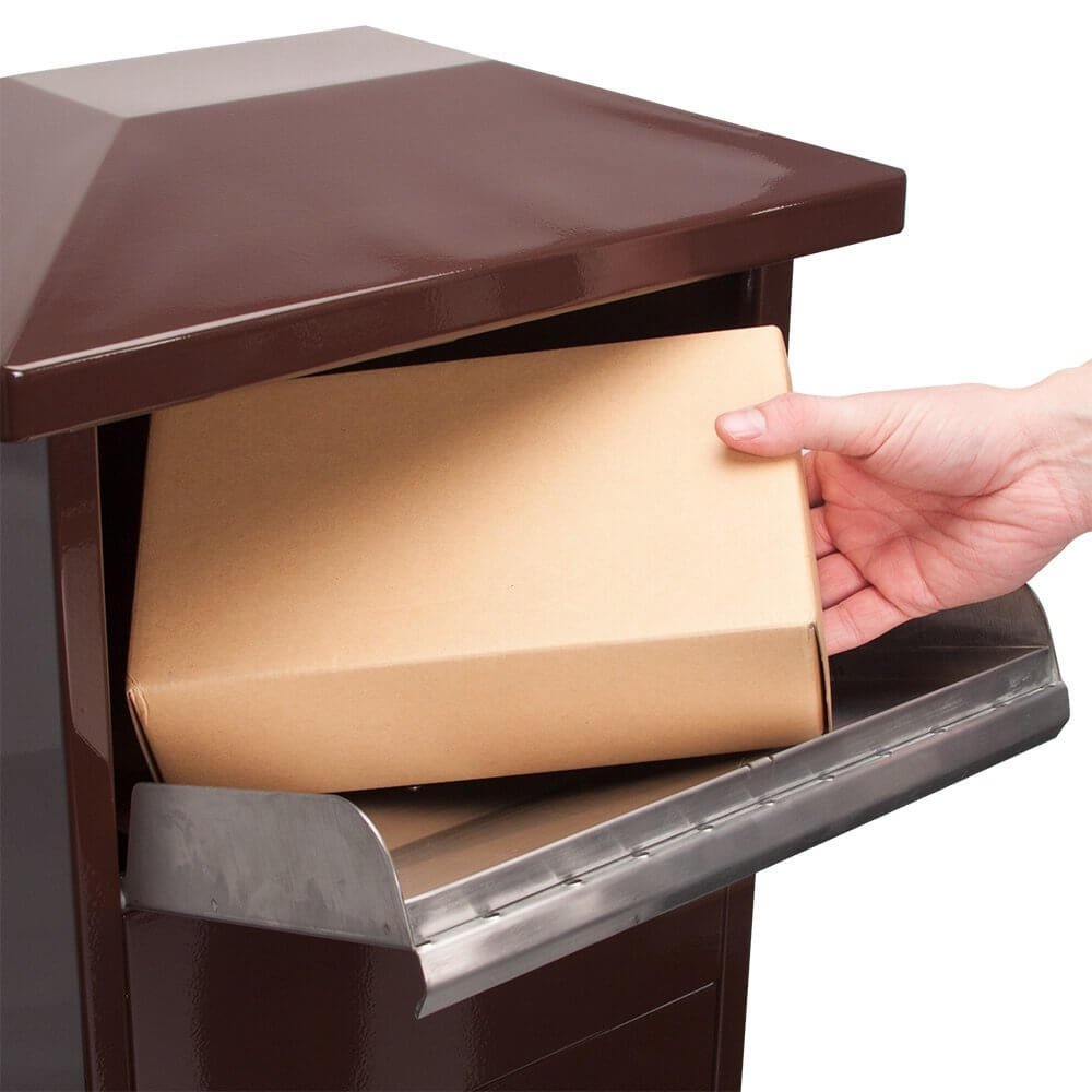 Mpb 600 Brown Parcel Box With Package Compartment By