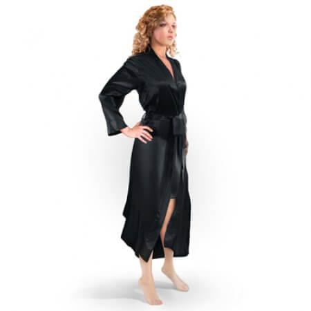 54ae5e7f4a Aus Vio Silk Robe - Black - Small Medium - Barska.com