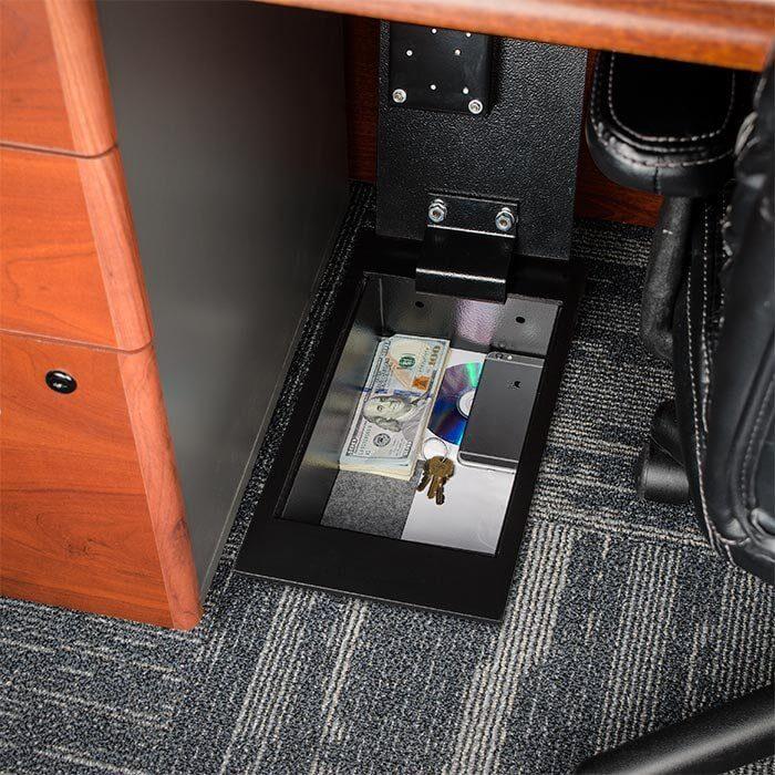 Elegant Floor Safe With Key Lock 0.22 Cubic Ft.by Barska