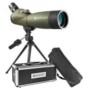 20-60x60mm WP Blackhawk Spotting Scope Angled By Barska