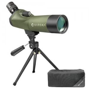 18-36x50mm WP Blackhawk Spotting Scope Angled By Barska