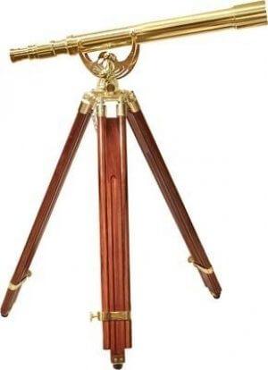 18x50mm Anchormaster Classic Brass Telescope w/ Mahogany Tripod by Barska