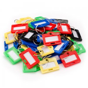 Small Assorted Key Tags 50 Pack For Key Cabinets