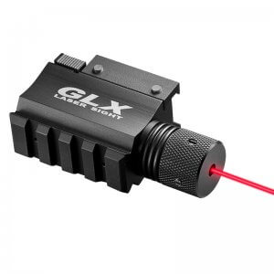 GLX Red Laser w/ Built-In Mount & Rail by Barska
